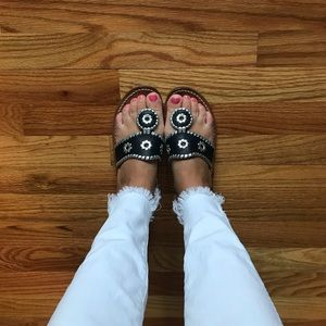 Black and Silver Jack Rogers